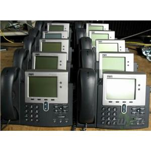 Lot of 10 Cisco CP-7940G Two Button SCCP VoIP PoE Phone Handset