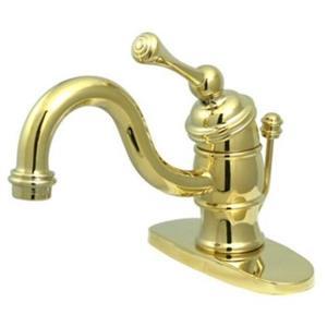 """Kingston Brass KB3402BL Heritage 4"""" Centerset Bathroom Sink Faucet - Polished Brass"""