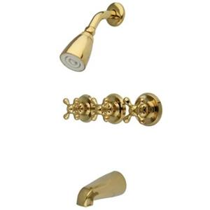 Kingston Brass KB232AX  Tub & Shower Faucet - Polished Brass