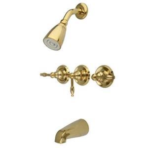 Kingston Brass KB232KL  Tub & Shower Faucet - Polished Brass