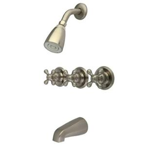 Kingston Brass KB238AX  Tub & Shower Faucet - Satin Nickel