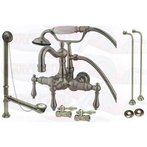 Kingston Brass Clawfoot Tub Faucet Kit Satin Nickel - CCK1007T8