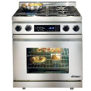 "Dacor 30"" 4 Sealed/Simmer Burners Convection Pro-Style Dual-Fuel Range DR30DNG (4)"
