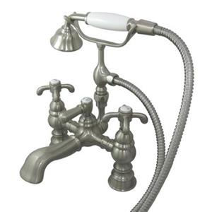 Kingston Brass Clawfoot Tub Filler With Hand Shower - Satin Nickel Model # CC1158T8