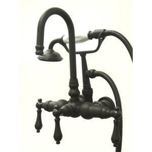 "Kingston Brass 3-3/8"" Center Wall Mount ClawFoot Tub Filler & Hand Shower Oil Rubbed Bronze CC7T5"