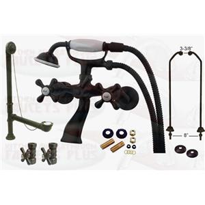 Kingston Brass Oil Rubbed Bronze Clawfoot Tub Faucet Kit - CCK265ORB-D