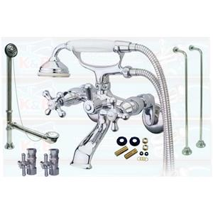 Kingston Brass Chrome Clawfoot Tub Faucet Kit - CCK265C KS265C Package