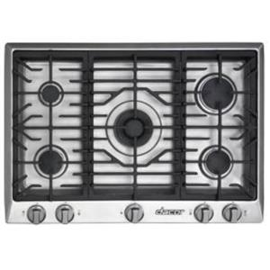 """Dacor Distinctive 30"""" Gas Cooktop with 5 Sealed Burners Stainless DCT305SNG"""
