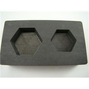 5 oz & 10 oz Gold Bar High Denisty Graphite Hexagon Mold Combo Loaf Silver