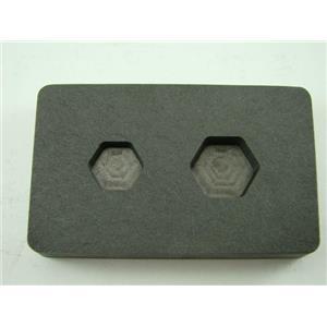 1/4 oz & 1/2oz Gold Bar High Denisty Graphite Hexagon Mold Combo Copper