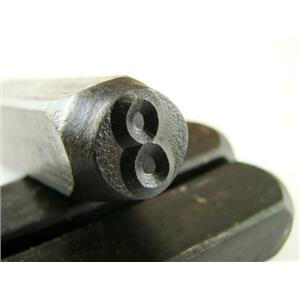 "1/2"" Number #8 Stamp-Punch-Hand-Tool-Gold Bar-Silver-Trailer-Metal-Leather"