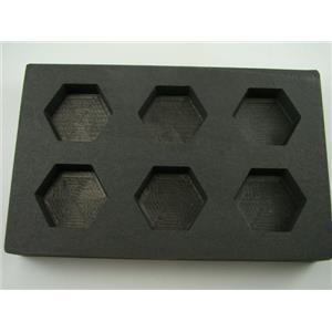 5 oz  Hexagon Gold Bar High Density Graphite Mold  6-Cavities - 3oz Silver-Scrap
