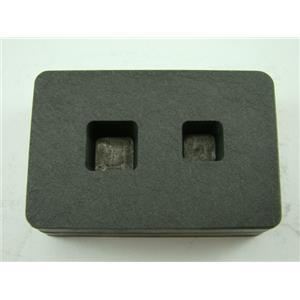 1/4 oz & 1/2oz Gold Bar High Density Graphite Tall Cube Mold Combo Copper
