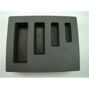1-2-5-10 oz KitKat Gold Bar High Density Graphite Mold - Silver Copper -4-Cavity