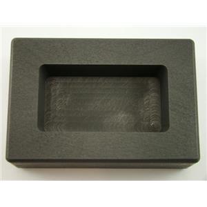 10 oz Silver Bar High Density Graphite Ingot Mold Loaf Style Rectangle Ag Silver
