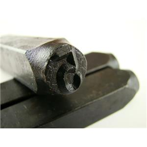 """3/8"""" Number """"5"""" Stamp-Punch-Hand-Tool-Gold Bar-Silver-Trailer-Metal-Leather"""
