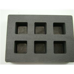 High Density Graphite Cube Mold 2oz Gold Bar 1oz Silver 6-Cavities Copper