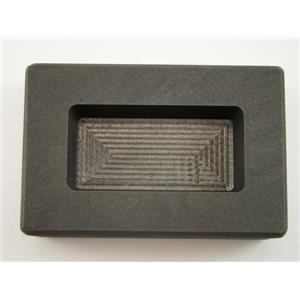 5 oz Silver Bar High Density Graphite Ingot Mold Loaf Style Rectangle  10oz Gold