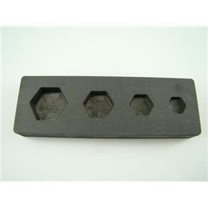 Hexagon Mold 1/4-1/2-1-2 oz Gold Bar High Denisty Graphite -Silver- Copper