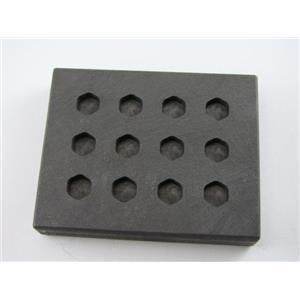 1.5 Gram Hexagon Gold & Silver Bar High Density Graphite Mold 12 Cavity