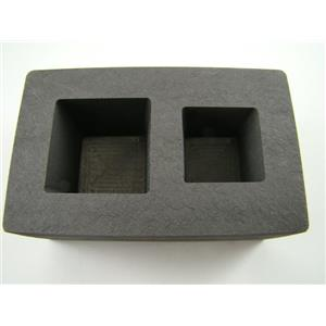 5 oz & 10 oz Gold Bar High Denisty Graphite Tall Cube Mold Combo Loaf Silver