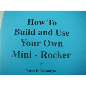 How to Build & Use your own Mini-Rocker / Cut List-Instructions-Mining-Gold