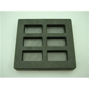 2 oz x 6 High Density Graphite Mold Gold Bar-1 oz Silver 6-Cavities Scrap Copper