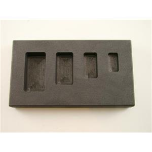 1/4-1/2-1-2 oz High Density Graphite Gold Bar Mold 4-Cavitiy Combo-Silver Copper
