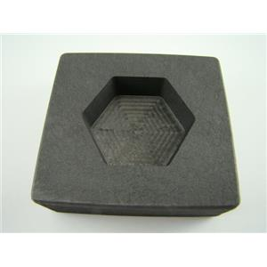 5 oz Hexagon Gold High Denisty Graphite Mold 3 oz Silver Bar Loaf-Copper