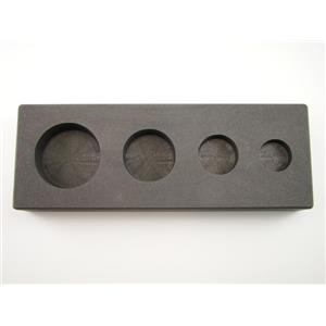 1-2-5-10 oz Gold Bar High Density Graphite Round Mold 4-Cavities - Silver Copper