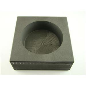 50 oz Round Gold Bar High Density Graphite Mold - Silver-Copper Bar Coin