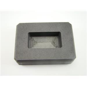 1 oz Silver Bar High Density Graphite Ingot Mold Loaf Rectangle AG Gold=1/2oz