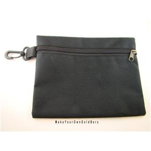 "Black Zippered Pouch 9"" X 7"" Storage-Gun-Cell-Flashlight-Camping-Survival"