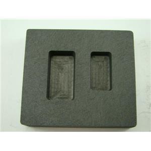 1/2 oz & 1 oz Gold Bar High Density Graphite Mold Combo Silver / Copper / Loaf