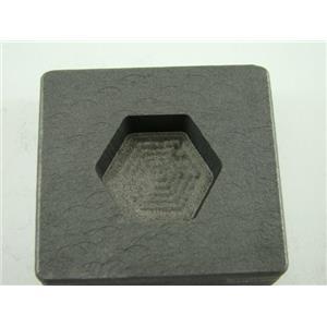 2 oz Hexagon Gold Bar High Density Graphite Mold 1 oz Silver