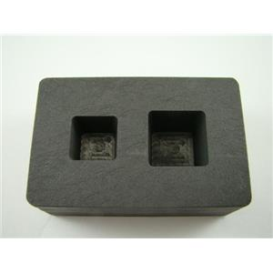 1 oz & 2 oz Gold Bar High Density Graphite Tall Cube Mold Combo Loaf Square