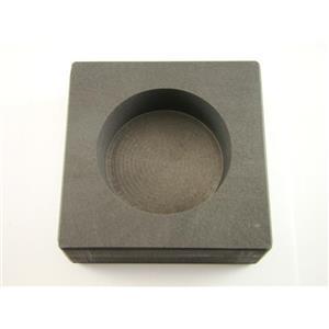 Round 15 oz Gold High Density Graphite Ingot Mold Silver-Copper Bar Coin