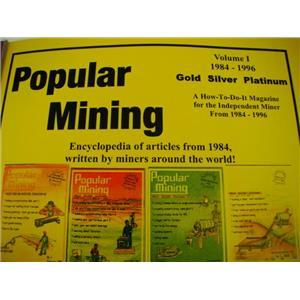 Popular Mining-Encyclopedia of Articles #1-Plans-DIY-Gold Prospecting History