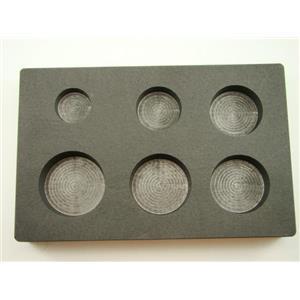 1-2-3-4-5-6 oz Round Gold Bar High Density Graphite Mold Combo 6-Cavities