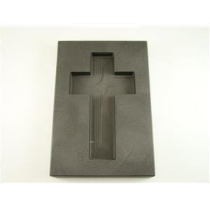 "10 oz Custom Cross Gold High Density Graphite Mold 5 oz Silver Necklace 3-3/4"""