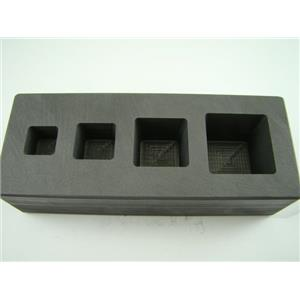 High Density Graphite Mold 1-2-5-10 oz Gold Bar Silver 4-Cavity Cube