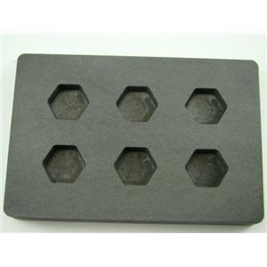 High Density Graphite Mold 1/2 oz Gold Bar Silver 6-Cavities Hexagon Copper