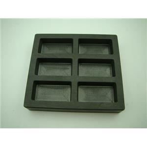 5 oz x 6 High Density Graphite Gold Bar Mold-3 oz Silver 6-Cavities Scrap Copper