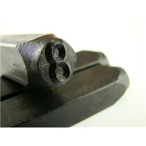 "1/4"" Number ""8"" Stamp-Punch-Hand-Tool-Gold Bar-Silver-Trailer-Metal-Leather"