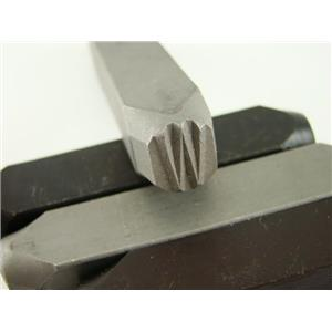 """1/2"""" Letter """"W"""" Stamp-Punch-Hand-Tool-Gold Bar-Silver-Trailer-Metal-Leather"""