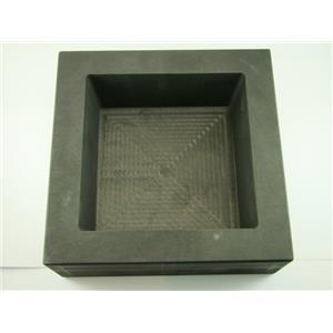 200 oz Gold 100 oz Silver Bar High Density Graphite Square Slab Mold Loaf