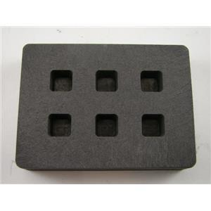 Graphite Mold 1/4 oz Gold Bar Silver 6-Cavities Cube Ingots Copper 1/8 oz