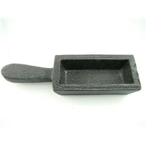 80 oz Gold Bar Loaf Cast Iron Ingot Mold - Scrap Silver 40 oz - Copper Aluminum