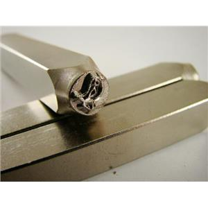 """""""Song Bird Chick"""" 1/4""""-6mm-Large Stamp-Metal-Hardened Steel-Gold & Silver Bars"""