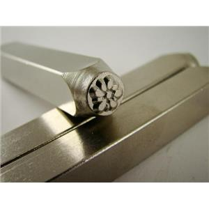 """Gardenia Flower"" 1/4""-6mm-Large Stamp-Metal-Hardened Steel-Gold&Silver Bars"
